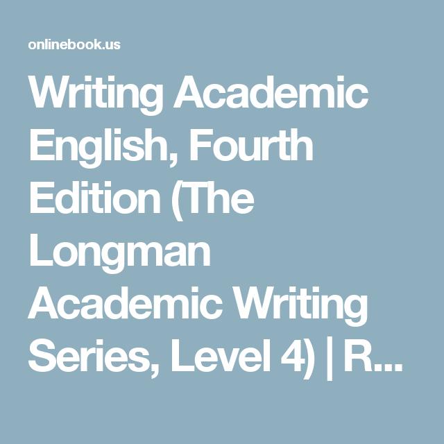 Writing academic english fourth edition the longman academic writing academic english fourth edition the longman academic writing series level 4 fandeluxe Choice Image
