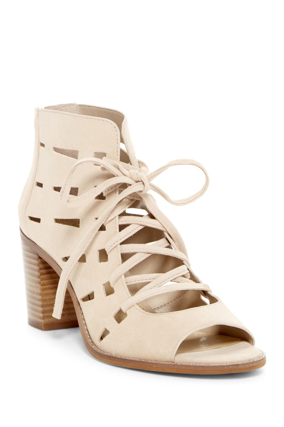 c1f1d93a4ac Vince Camuto Tressa Perforated Leather Block Heel Sandal