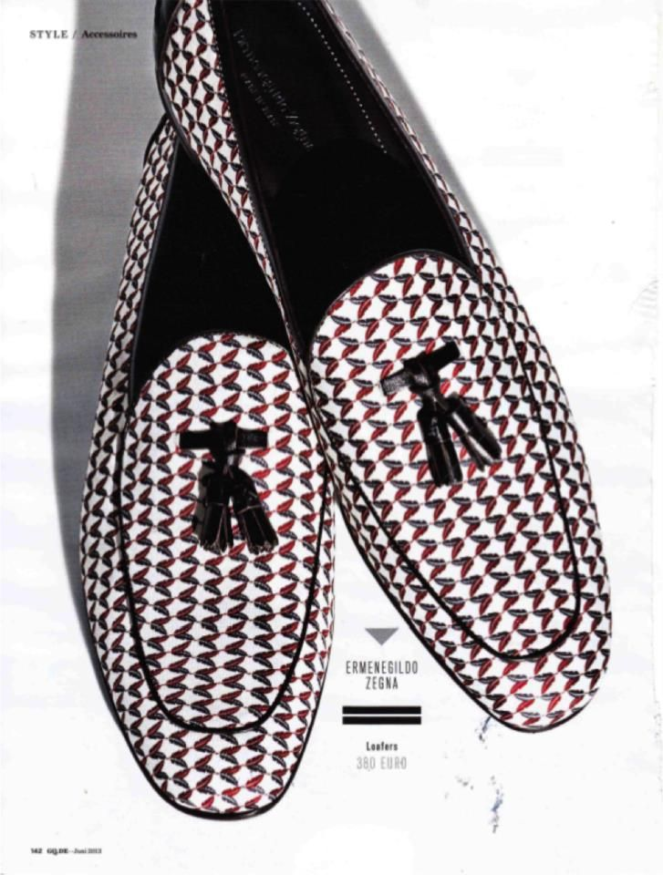 GQ Germany with a pair of Ermenegildo Zegna SS13 slippers