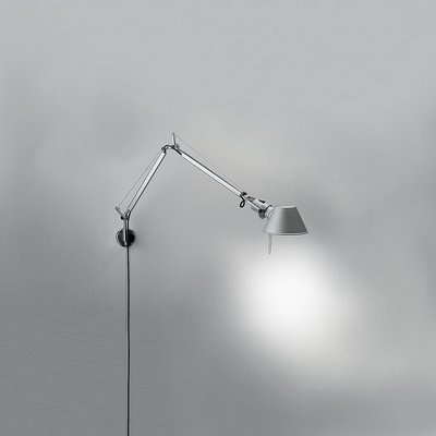 Artemide Tolomeo Micro 1 Light Swing Arm Lamp With S Bracket Wall Sconce Lighting Wall Lights Drum Shade