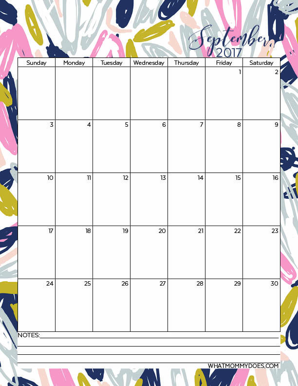 Free Printable 2017 Monthly Calendars Template, Free printable - free printable monthly calendar
