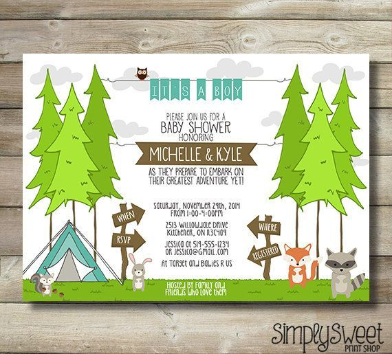 Wilderness Themed Baby Shower On Pinterest Camping