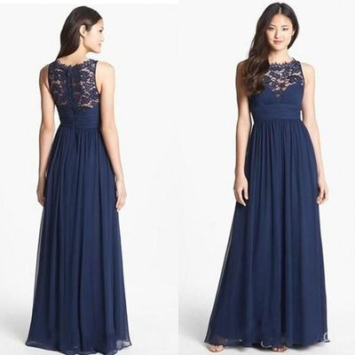 A261 Tank Lace Top Prom Dresses A Line Prom Dresses Dark Navy Long Bridesmaid Dre Navy Lace Bridesmaid Dress Navy Bridesmaid Dresses Cheap Bridesmaid Dresses