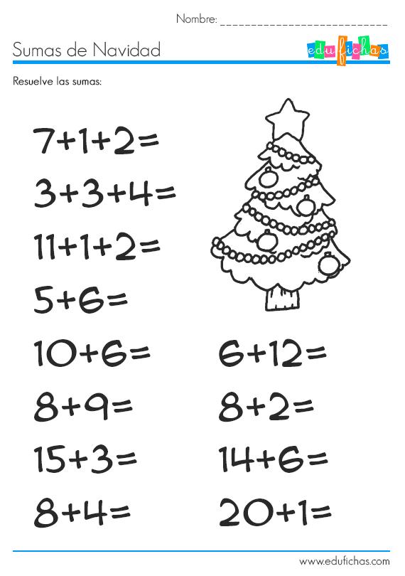Sumas de navidad - Trabajos manuales de navidad para ninos de primaria ...