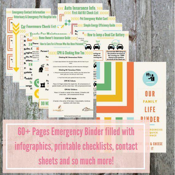 PDF Printable Emergency Binder