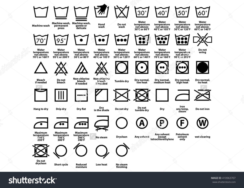Resultado De Imagen Para Washing Care Symbols Diy Clothes