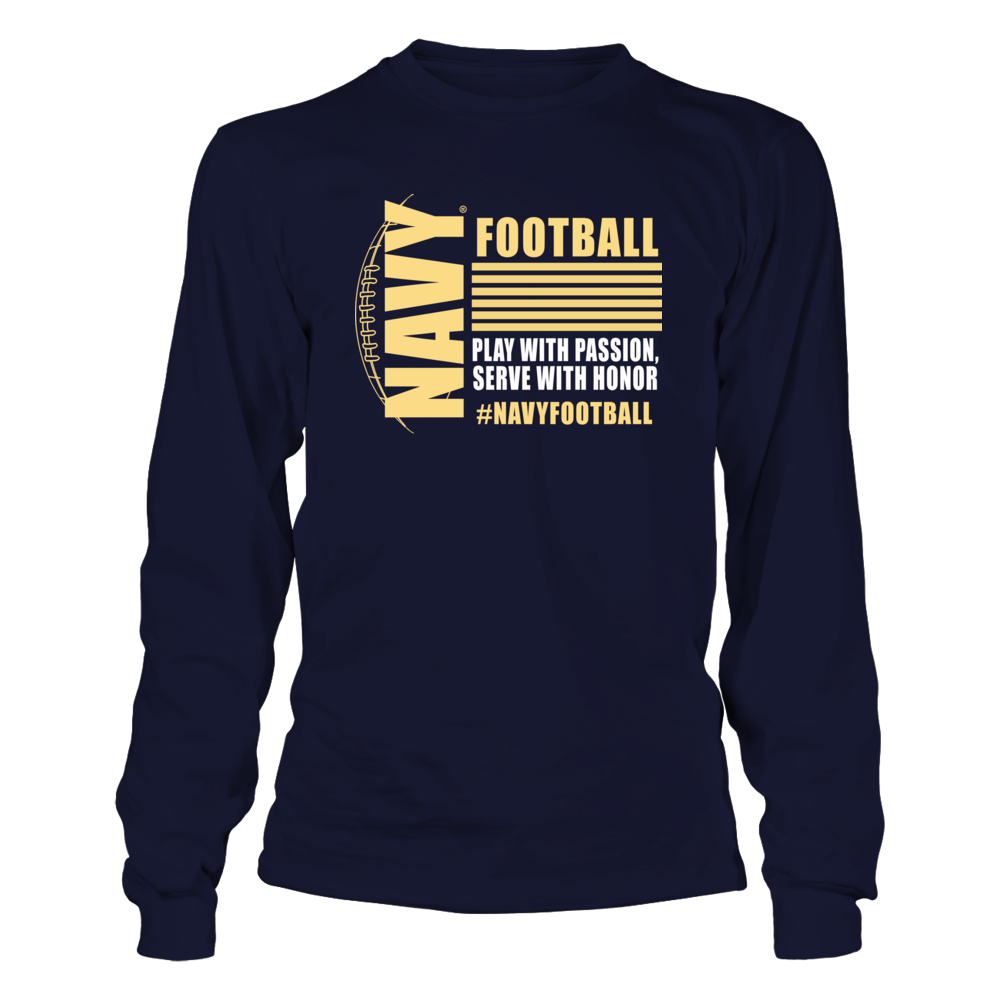 317df87cc80 Navy Football Apparel - Serve with Honor T-Shirt, _Officially licensed Navy  Football Apparel