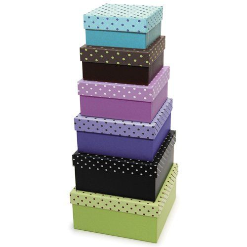 Decorative Boxes Storage Inspiration Xonex Simply Desk Nesting Boxes Set Of 6 Nested Decorative Boxes Inspiration