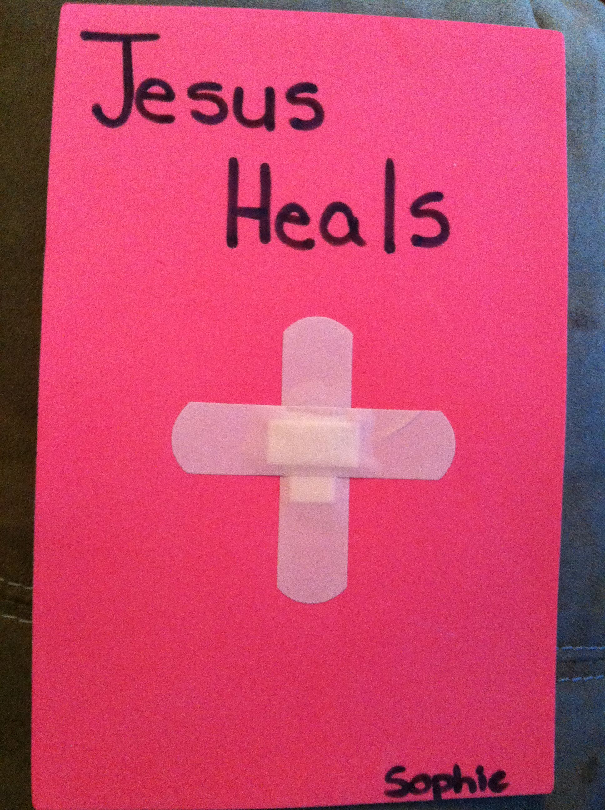 Jesus heals us when we are sick craft | Children\'s Church ...
