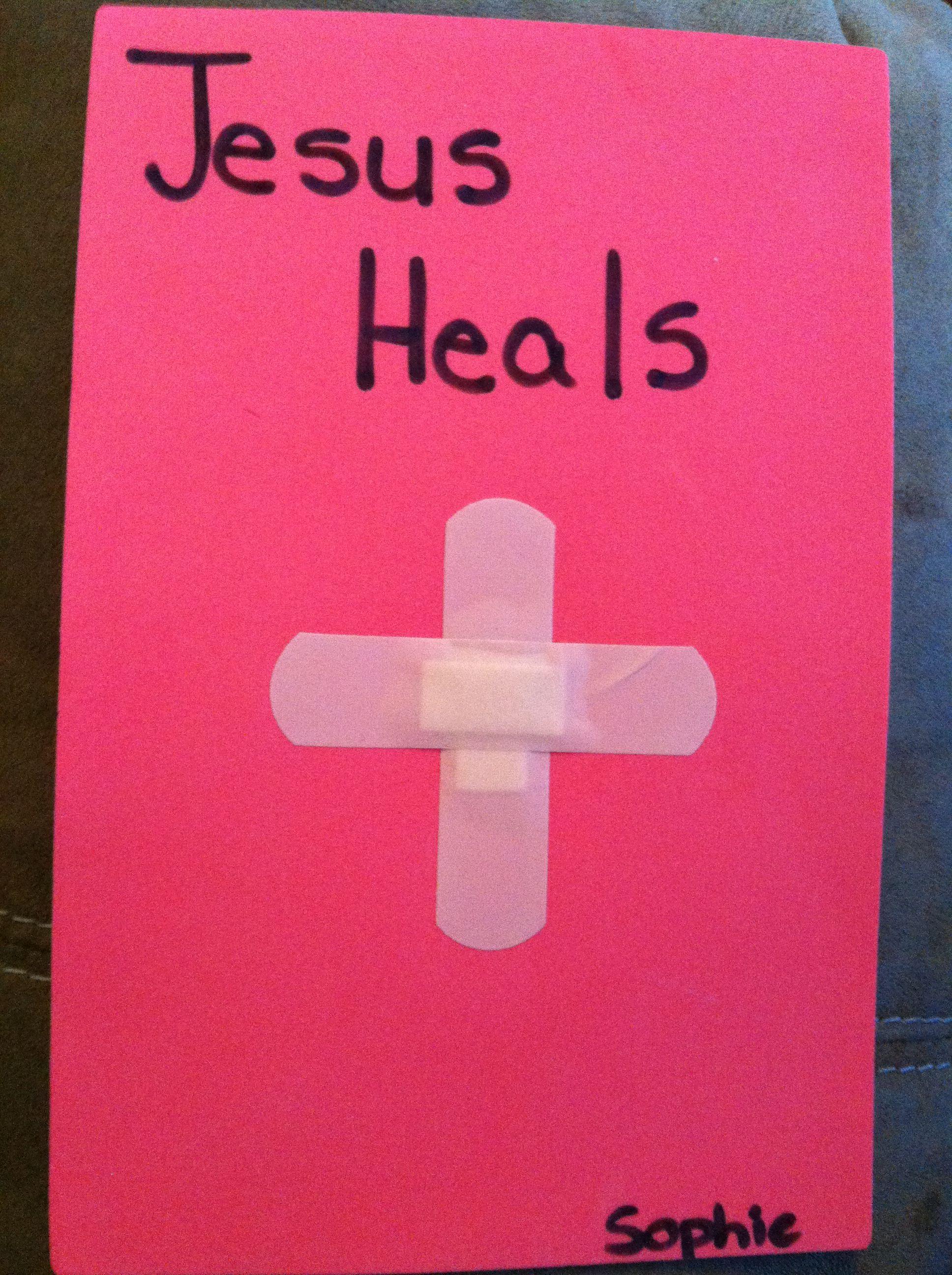 Jesus heals us when we are sick craft | Children\'s Church ...