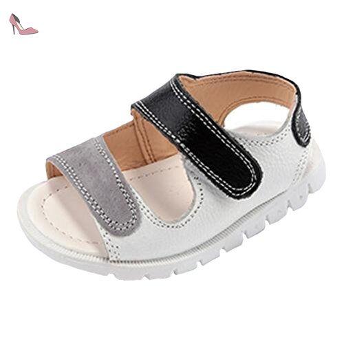 98f21a68c7854 Ohmais Enfants Chaussure bebe garcon premier pas Chaussure premier pas bébé  sandale en cuir souple -