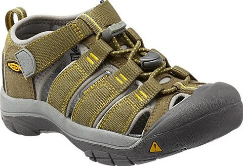 Newport H2 Water Sandal By Keen In Burnt Olive And Yellow Kids Sandals