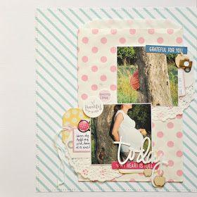 Bunterpinguin: Scrapbooklayout für Creative Scrappers mit Elle's Studio Schwangerschaft Pregnancy