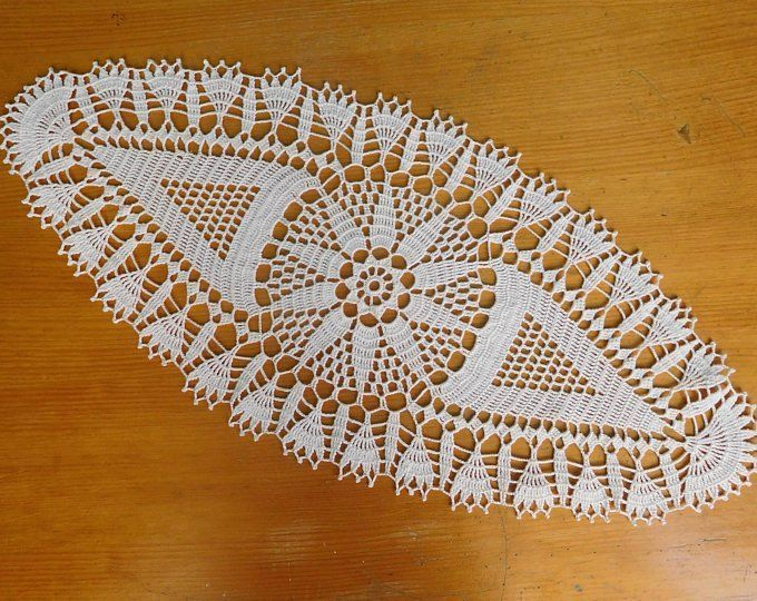 Oval gold crochet doily 43x21cm or 1692x826 crochet tablecloth handmade table centrepiece coffee tablecloth table runner coaster wedding Tables lace Informations About Ov...