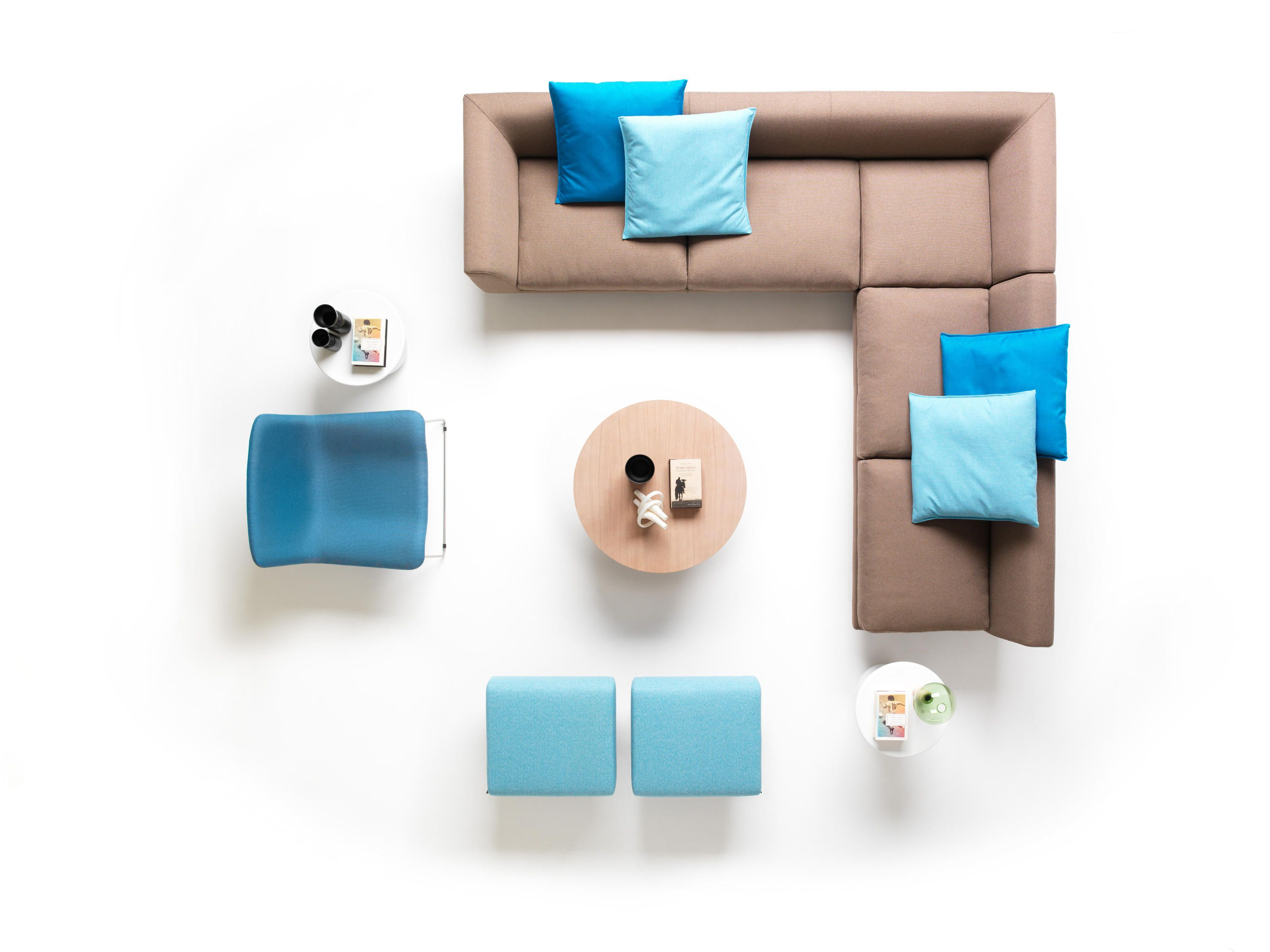 Range Of Modular Seating Elements With Frame In Steel And Wood Springy On Elastic Belts P Furniture Layout Modern Furniture Sets Interior Design Presentation