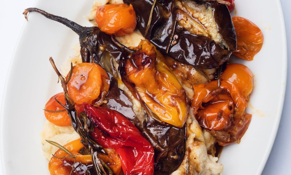 Nigel Slaters Roast Peppers And Tomatoes Butter Bean Mash