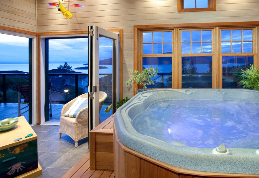 hot tub room decorating ideas pinterest hot tub room hot tubs and tubs. Black Bedroom Furniture Sets. Home Design Ideas