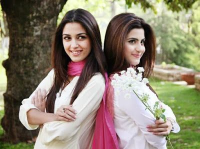 pakistani actresses maya ali  sohai ali abroon the set