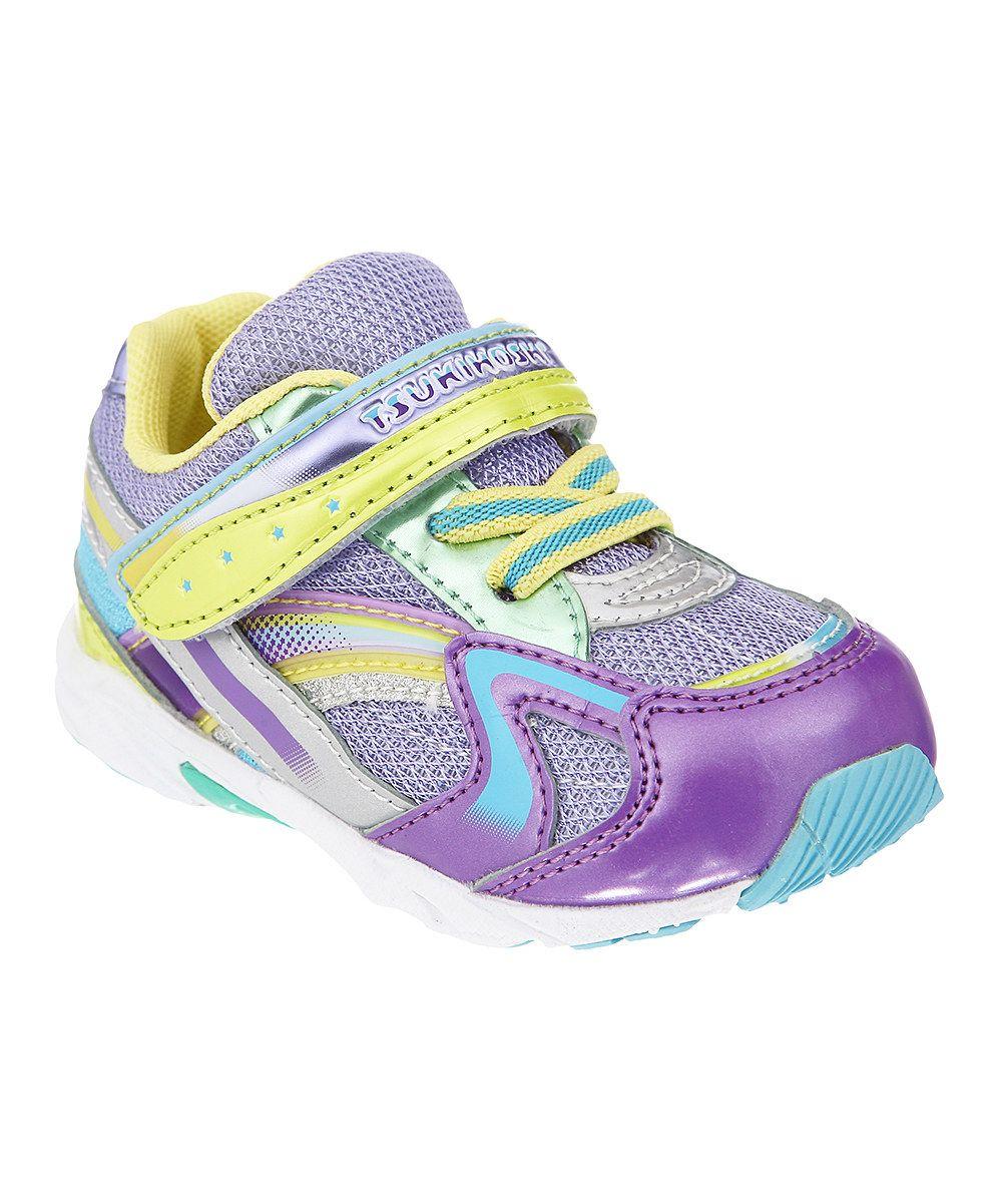 TSUKIHOSHI Purple & Lime Baby Glitz Sneaker #zulily