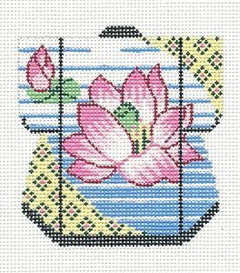 LEE Peony /& Tassel Oriental Petite Kimono handpainted Needlepoint Canvas