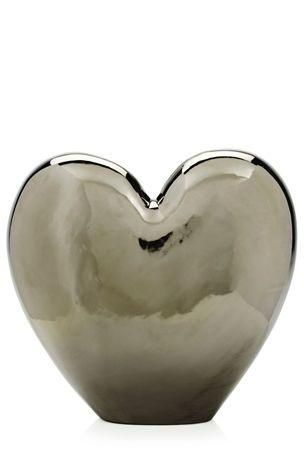 Ceramic Silver Heart Vase Next All You Need Is Love Pinterest
