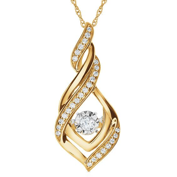 d4d7dfb9f30 Unstoppable Love™ 1 6 CT. T.w. Diamond Cascading Flame Pendant in 10K Gold