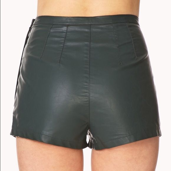 Forever 21 Leather Hot Pants Hot Pants Leather Shorts Pants