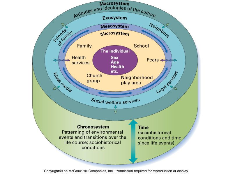 Bronfenbrenner S Ecological Systems Theory Retrieved October 20 2011 From Mcgraw Hill Higher Ed Ecological Systems Theory Systems Theory Ecological Systems