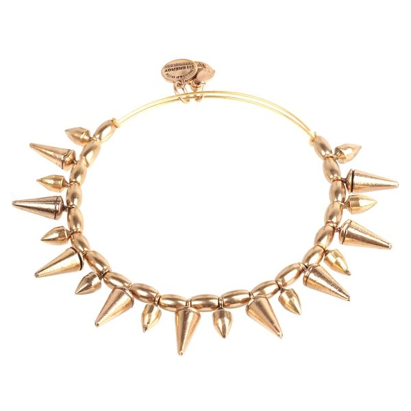 Alex And Ani Gold Spike Of Courage Expandable Wire Bracelet