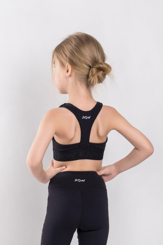 Gymnastics Girls Dance Ballet Sport Racerback Bra Black