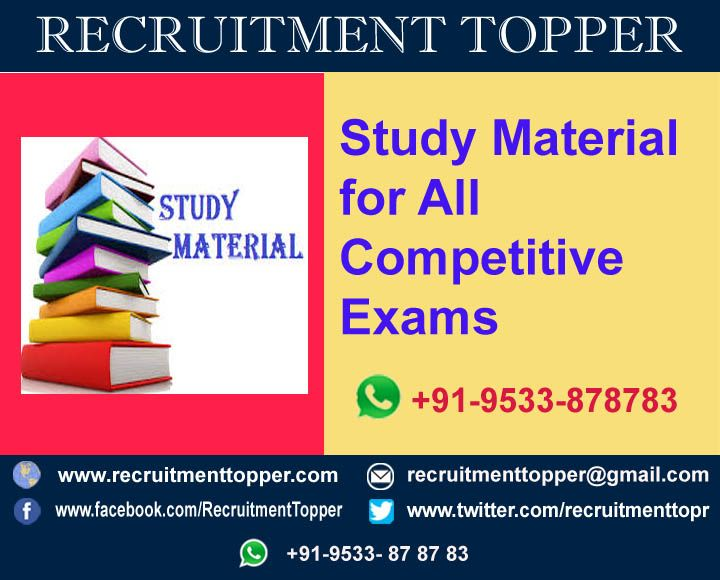 Study Material for All Competitive Exams