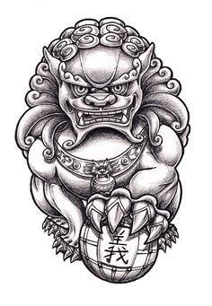 Image Result For Foo Dog Tattoo Foo Dog Tattoo Sleeve Tattoos Foo Dog Tattoo Design