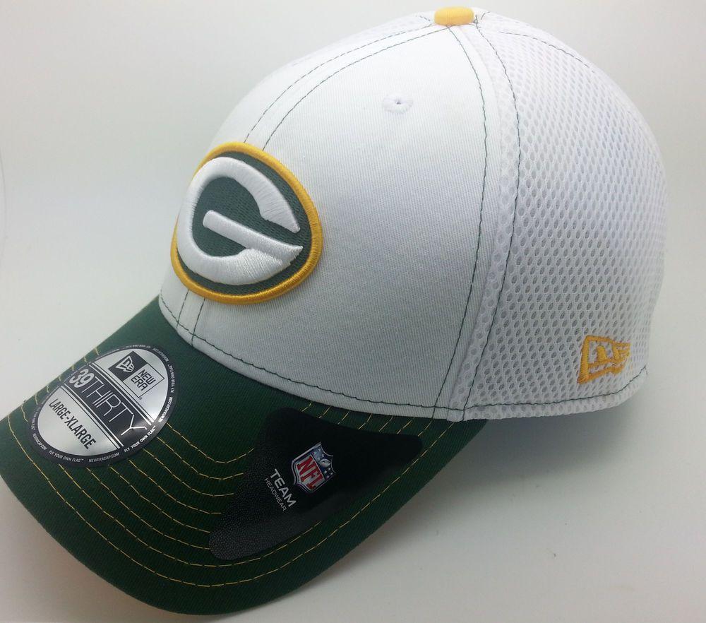 GREEN BAY PACKERS BLITZ NEO NFL NEW ERA 39THIRTY HAT CAP (LARGE-XLARGE a9b597b39