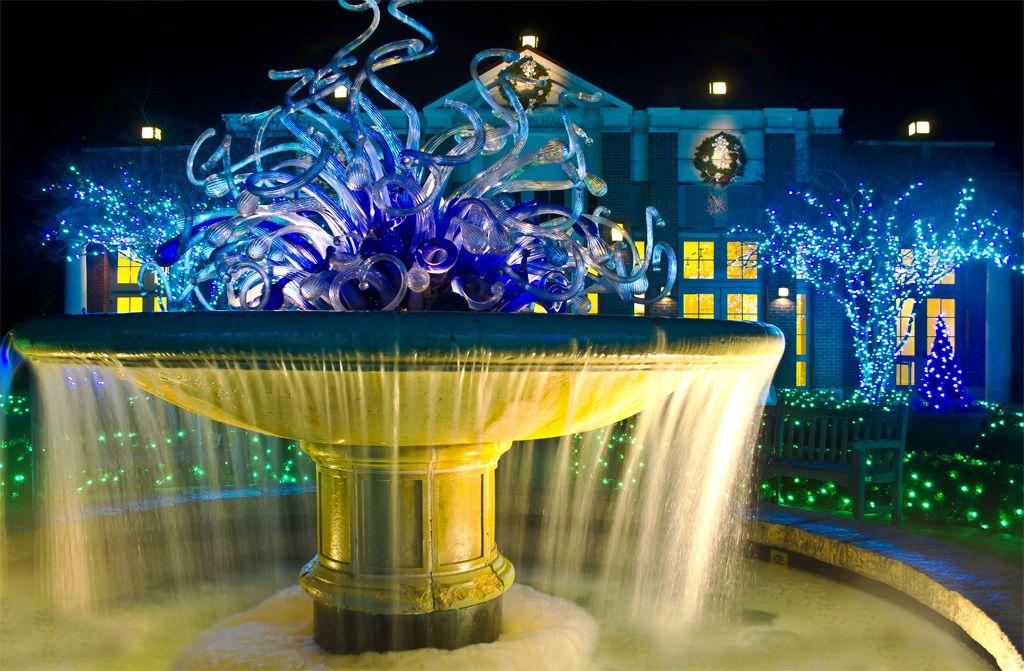 Chihuly Glass Fountain in 2020 Atlanta botanical garden