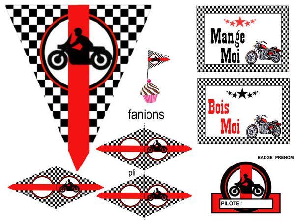 anniversaire moto moto pinterest moto anniversaires et deco moto. Black Bedroom Furniture Sets. Home Design Ideas