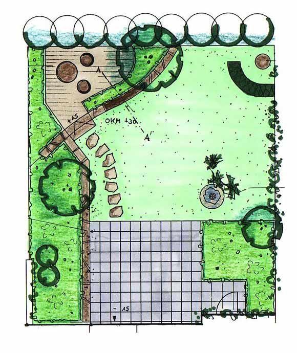 garten gestalten mit natursteinmauer: variante 3, Gartenarbeit ideen