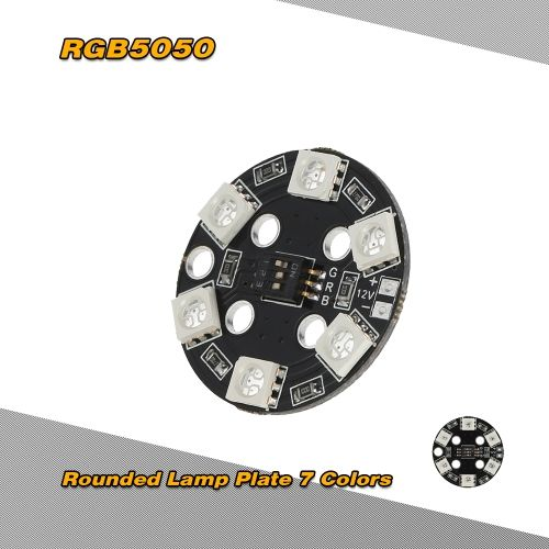 RGB5050 LED X6 12V Rounded Lamp Plate 7 Colors Switch for QAV250 Quadcopter Multicopter