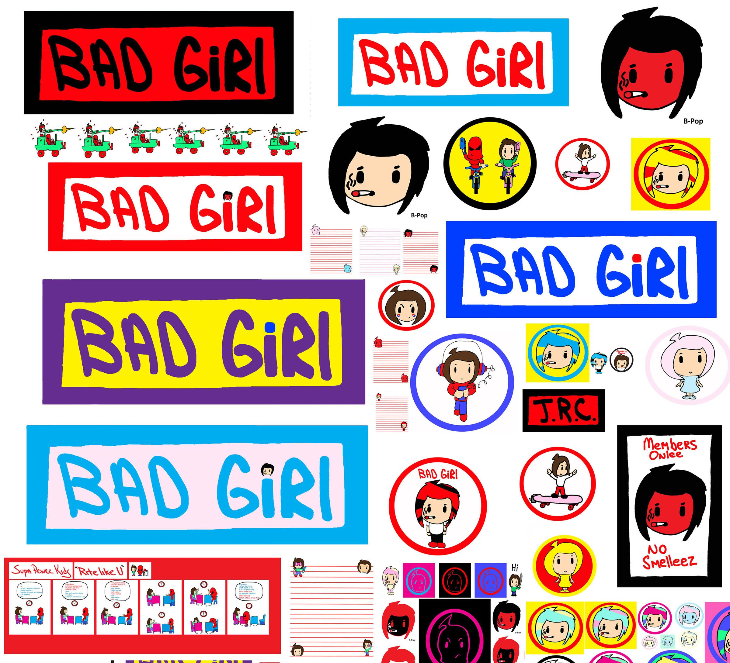 Bad Girl Banner Logo Poster Door Sing Super Pee Wee Create Kids B