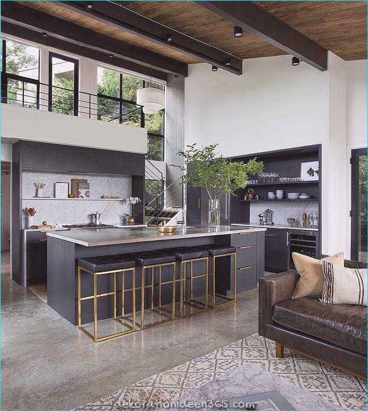 Moderne Küchen mit Insel - 40 Projekte von den besten Designern » Wohnideen für Inspiration #hausinterieurs