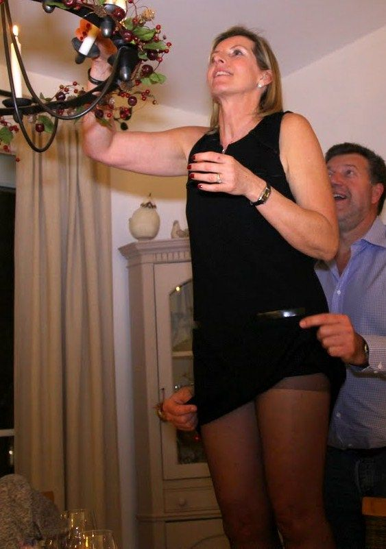 ELOISE: Old milf upskirt at store