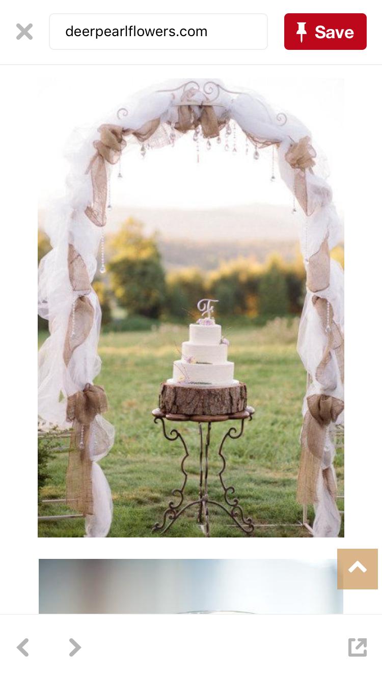 Wedding decorations using tulle  Pin by Roxanne BanwartTerribile on Julieus garden wedding