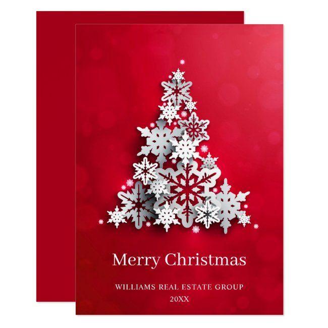 Ad Christmas 2021 Modern Snowflake Christmas Tree Corporate Greeting Invitation Zazzle Com In 2021 Christmas Greetings Christmas Greetings Quotes Christmas Greetings Quotes Families
