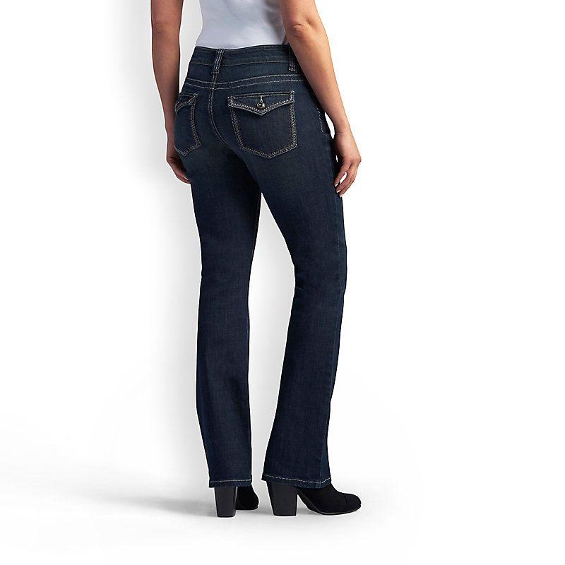 e74b2fed Lee Women's Platinum Label Slender Secret Saira Barely Bootcut Jeans (Size  18 x L)
