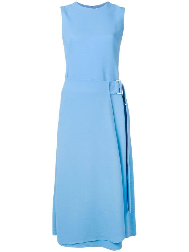 Victoria Beckham Sleeveless Dress With Buckle Detail Farfetch Dresses Victoria Beckham Sleeveless Dress [ 1067 x 800 Pixel ]