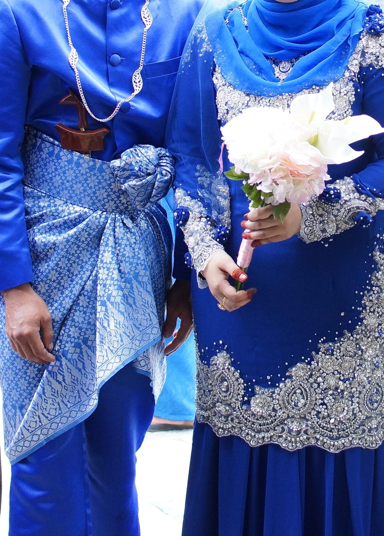 Royal blue - malay wedding dress  Malay wedding dress, Muslim