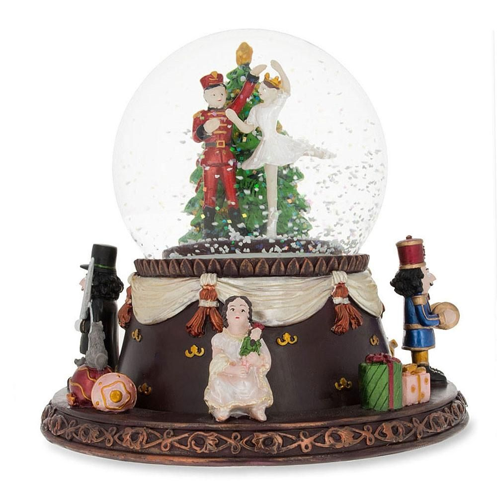 Nutcracker Dancing with Clara Animated Musical Snow Globe