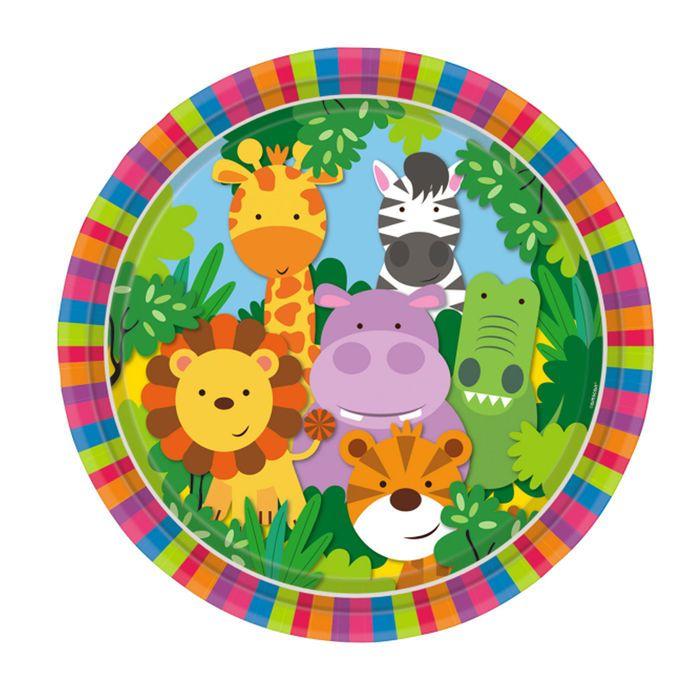 Jungle Party Teller Tischdeko Safari Birthdayparty Animals