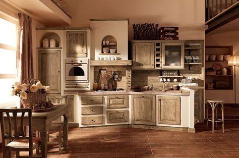 Cucine in muratura rustiche e moderne - Cucina in muratura azzurra ...