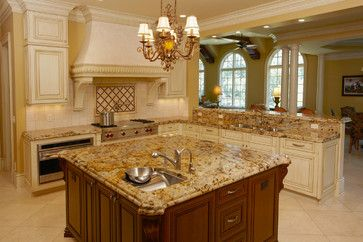 Lapidus Gold Granite Countertops - traditional - other - st ...