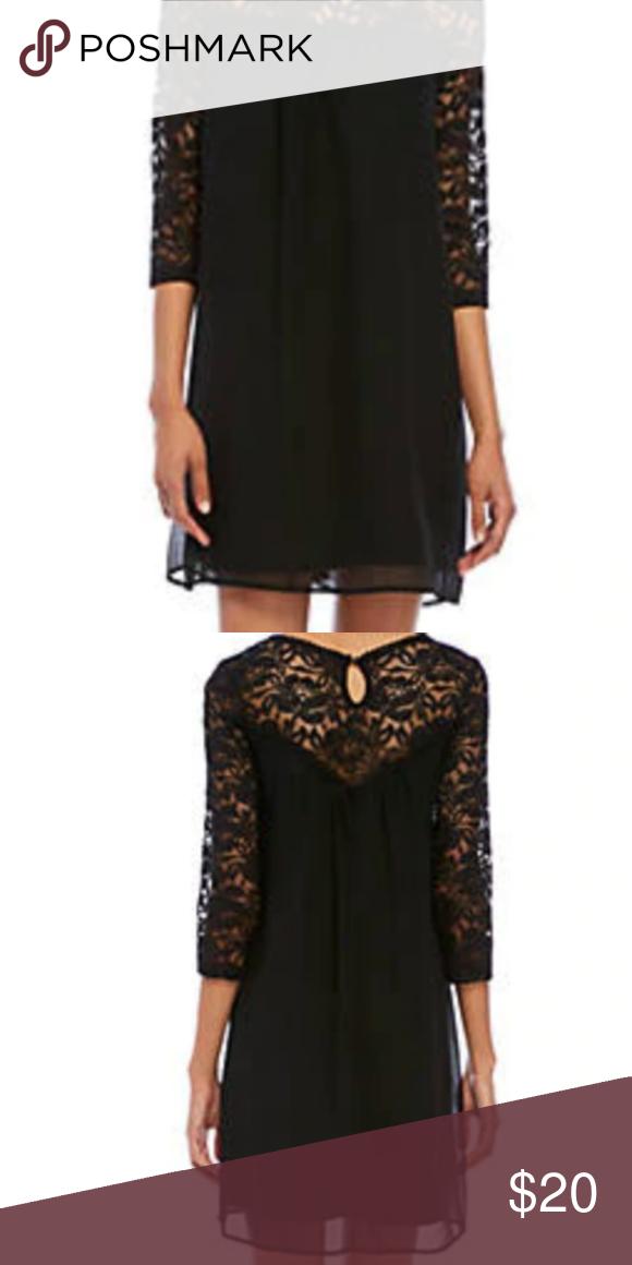Luxology Black Midi Lace Dress Size 18 Luxology Black Midi